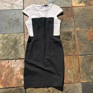 Theory Black and White Dress Size 8